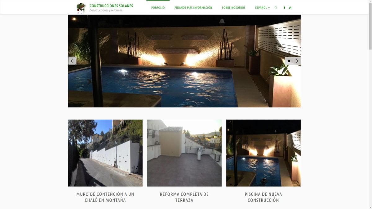 Web de Construcciones Solanes