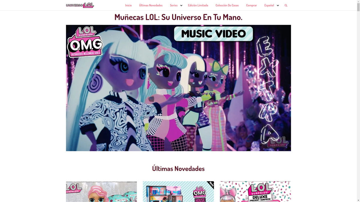 Web de Universo LOL Surprise